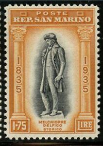 San Marino 1935 Melchiorre Delfico set Sc# 169-80 mint