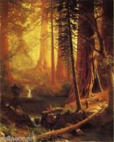 Albert Bierstadt Giant Redwood Trees of California Fine Art  Giclee Canvas Print