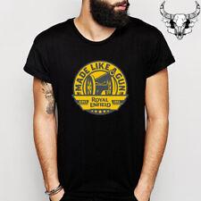 Royal Enfield Made Like A Gun Motorcycle Logo Men's Black T-Shirt Size S to 3XL