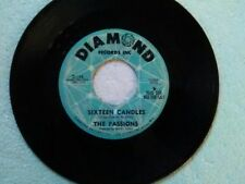 """The Passions 45 rpm """"Sixteen Candles"""" DIAMOND 146 DJ COPY on BROWN-WAX"""