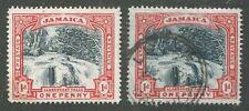 JAMAICA #32, 32b USED VF