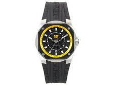 Caterpilar T614121114 Men's Black Rubber Bracelet With Black Analog Dial Watch