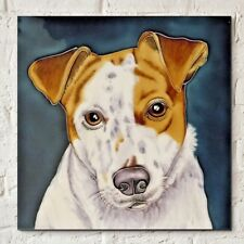 Jack Russell 8x8 Decorative Ceramic Picture Art Tile Dog Pets Kitchen Gift 05770