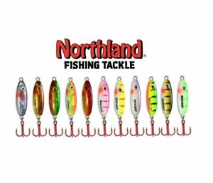 NORTHLAND FISHING TACKLE BUCK-SHOT RATTLE SPOON VALUE ASSORTMENT - 11 SPOONS