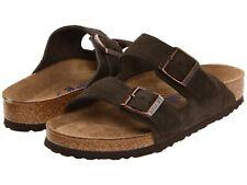 Unisex Shoes Birkenstock ARIZONA Soft Footbed Slide Sandals 0951313 MOCHA SUEDE
