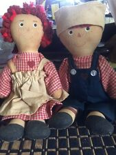 Vintage Small Raggedy Ann & Andy