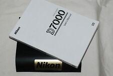 Genuine NIKON D7000 Digital SLR Camera Original USER GUIDE Instruction Manual
