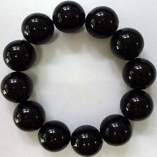 Elasticated Black Beaded Bracelet Wristband Bangle Womens Ladies Girls Jewellery