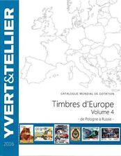 Yvert catalogus Europa volume 4 P-R catalogue Europe Katalog catalogo 2020