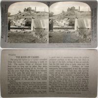 Keystone Stereoview of Rock of Cashel, Munster, IRELAND From RARE 1200 Card Set