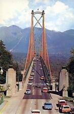 Photo. 1965-7.  Sky View Lions Gate Bridge - Autos
