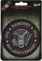 Official Licensed Merch Woven Sew-on Patch Punk Rock RAMONES 40th Anniversary