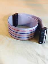x2 2.54mm Pitch 26 Pin 26 Way F/F Augat IDC Flat Ribbon Cable Connector 2ft.