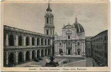 Primi 1900 Loreto Basilica Lauretana Piazza Madonna automobili - FP B/N ANIM