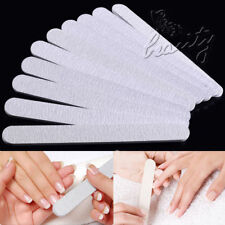 10x DOUBLE SIDED Sensashes Nail Emery Board Straight File Ridge Smooth Set