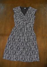 TOMMY HILFIGER Black & White Draped Polka Dot Dress  Size: 4