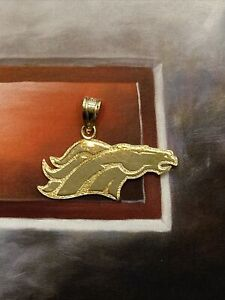 14K Yellow Gold NFL Denver Broncos Football Charm or Pendant by Michael Anthony