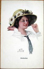 1915 Glamour/Peny/Artist-Singned Postcard: 'Perfection' - Woman in Hat