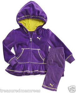 2 Piece Puma Velour Jacket & Pants ~ Size 24 Mons ~ New With Tags MSRP $48.00