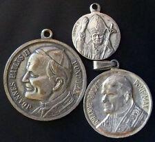 "LOT 3 VINTAGE POPE MEDALS JOHN PAUL II ""JOANNES PAVLVS II"""