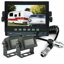 "REAR VIEW BACK UP REVERSE CAMERA SYSTEM 7"" LCD FOR TRAILER FIFTH WHEEL RV SEMI"