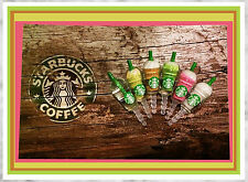 NEW Starbucks Coffee Frappuccino Anti-Dust Plug Cap 6 pcs- iPhone, Android, Ipod