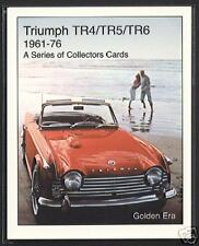 TRIUMPH TR4 TR5 TR6 Sports Car (1961-76) Collectors Card Set - TR4A TR250 advert