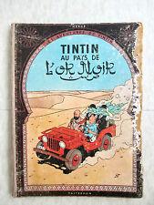 Hergé - Les Aventures de Tintin. Tintin au Pays de l'Or Noir (Plat B16) 1956