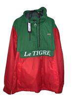 Brand New Men's  Le Tigre Colorblock Pullover Windbreaker Size XL