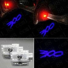 New 2x Blue 300 Logo LED Door Laser Projector Lights For Chrysler 300 2005-2019