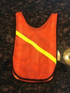 Unbranded Bike Mesh Reflective Vest Yellow sewn in reflective strips Day Night