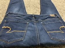 AE AMERICAN EAGLE OUTFITTERS SKINNY SUPER STRETCH WOMENS JEANS SIZE 12