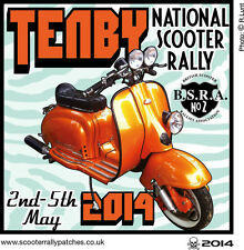 2014 TENBY NATIONAL SCOOTER RALLIES  PATCH BSRA MODS SKINHEADS not PADDY SMITH
