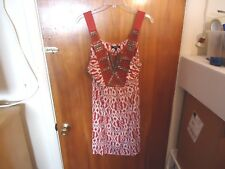 "Womens Apt.9 L Multi Color Sleeveless Dress With Beads "" BEAUTIFUL DRESS """