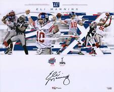 "Eli Manning Gigantes De Nueva York firmado 16"" X 20"" Super Bowl juega Collage Foto"