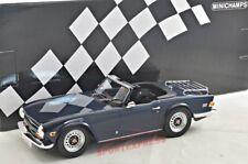 NUEVO 1/18 Minichamps 155132032 Triumph Tr6, azul oscuro, 1973 , LIMITADO 350pcs