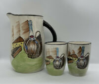 Royal Sealy Japan Capri Wine Pitcher & Cups Set