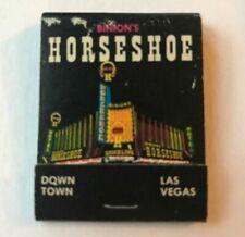 Binions Horseshoe Las Vegas Casino Matchbook