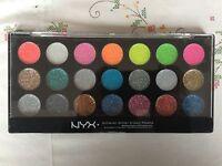 NYX Glitter cream palette 21 shades