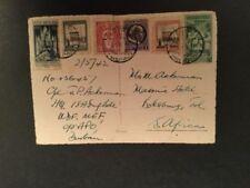 Handstamped 6 Number European Stamps
