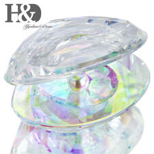 Crystal Shell Figurine with Pearl Collectibles Paperweights Ornaments AB Coating