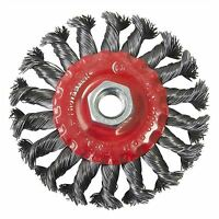 """4"""" 100mm Twist Knot Flat Wire Wheel Rotary Cup Brush M14 Thread Angle Grinder"""