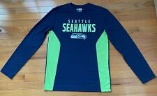 NFL Team Apparel- Seattle Seahawks Men's Dri-fit Shirt, NWOT, M, Navy and green