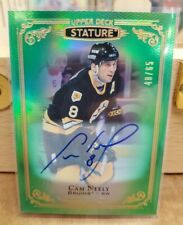 2019-20 STATURE GREEN PARALLEL Cam Neely Auto /65