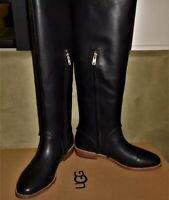 NEW UGG Leather Boots GRACEN WHIPSTITCH Black Women's Size 6.5