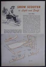 Snow Ski Scooter Sled 1953 How-To build PLANS