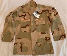New US Military Desert Camo Coat Medium USAF OBrien 8415-01-327-5308 Patched