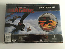 Brand New In Packet Childs Single Bed Dreamworks Dragons Theme Quilt Cover Set