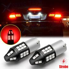 7506 1156 LED Flash Strobe Brake Stop Light Bulbs for Audi BMW VW Mercedes RED