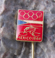 1968 Olympic Summer Games Mexico City Cycling Event Czech Team Pin Badge